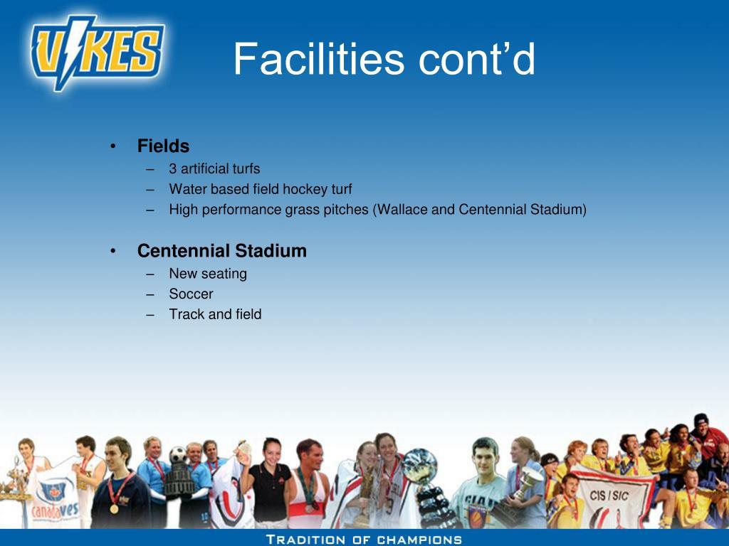 Facilities cont'd