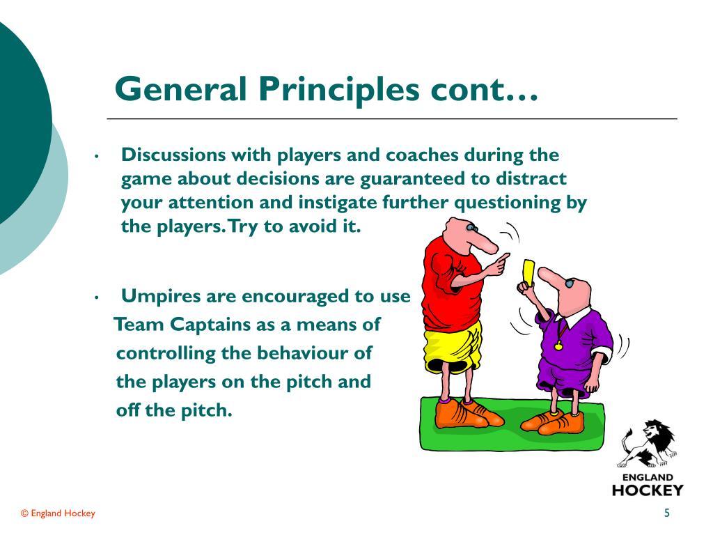 General Principles cont…