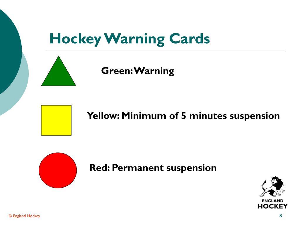 Hockey Warning Cards