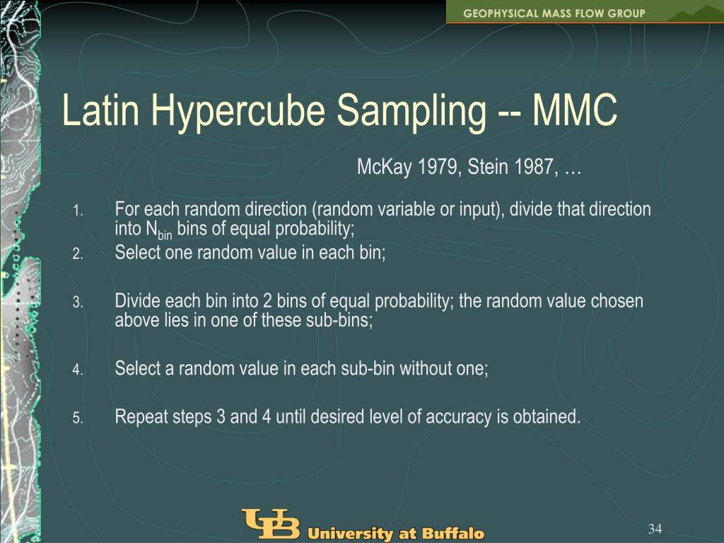 Latin Hypercube Sampling -- MMC