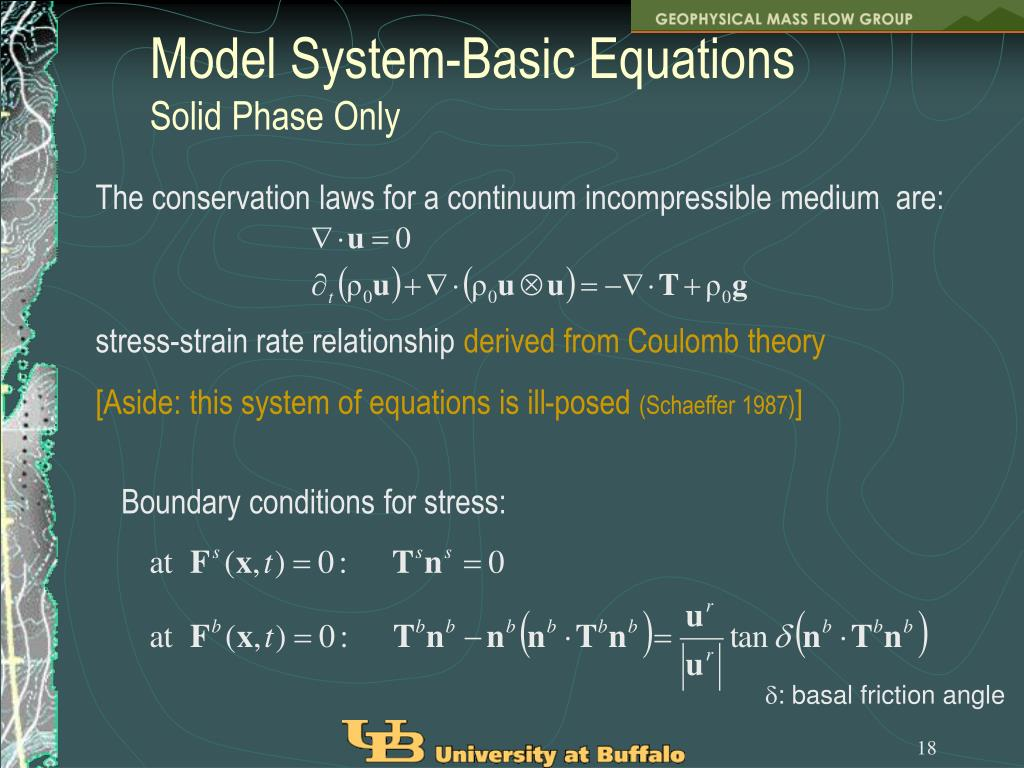Model System-Basic Equations