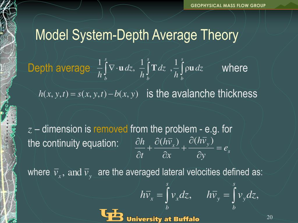 Model System-Depth Average Theory
