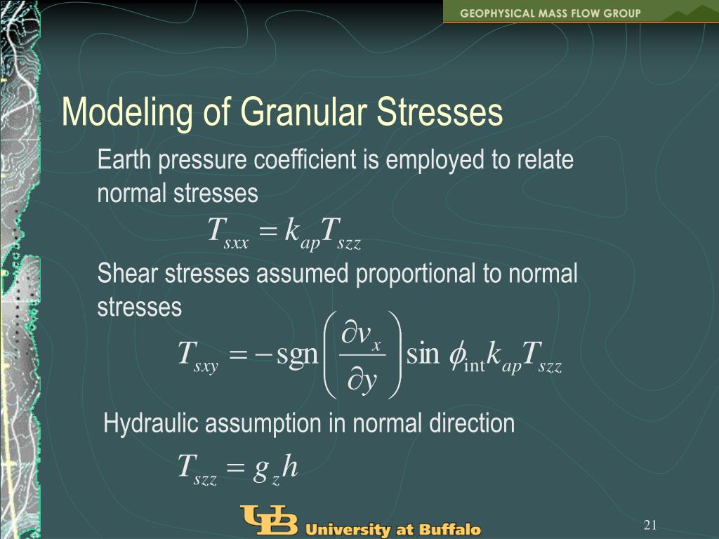 Modeling of Granular Stresses