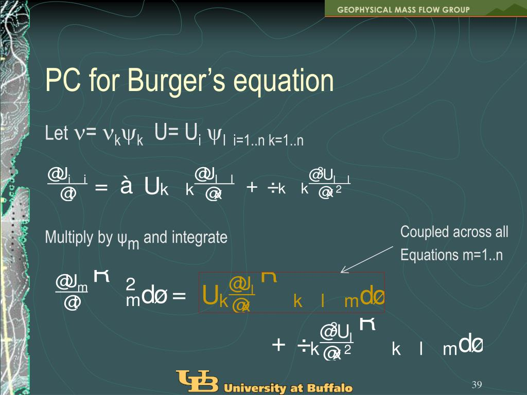 PC for Burger's equation