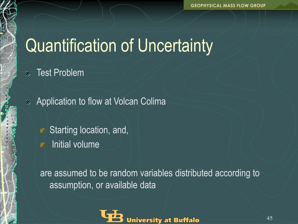Quantification of Uncertainty