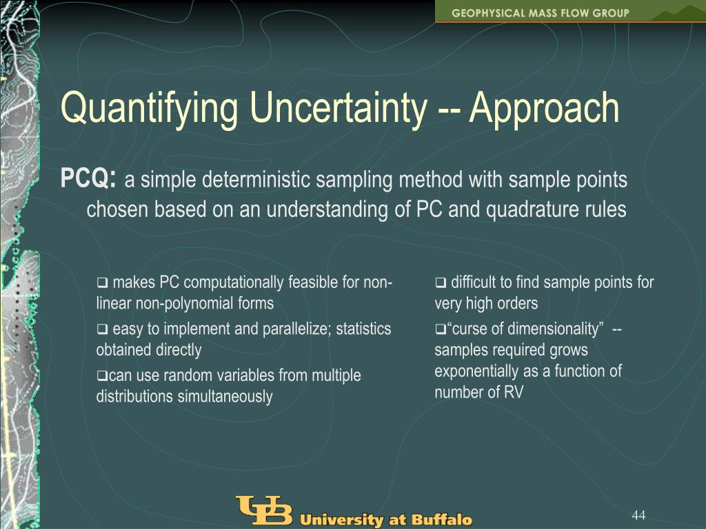 Quantifying Uncertainty -- Approach
