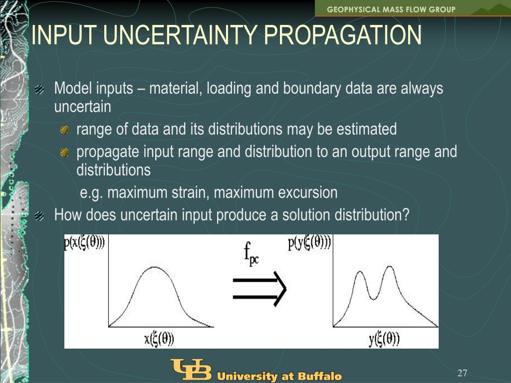 INPUT UNCERTAINTY PROPAGATION