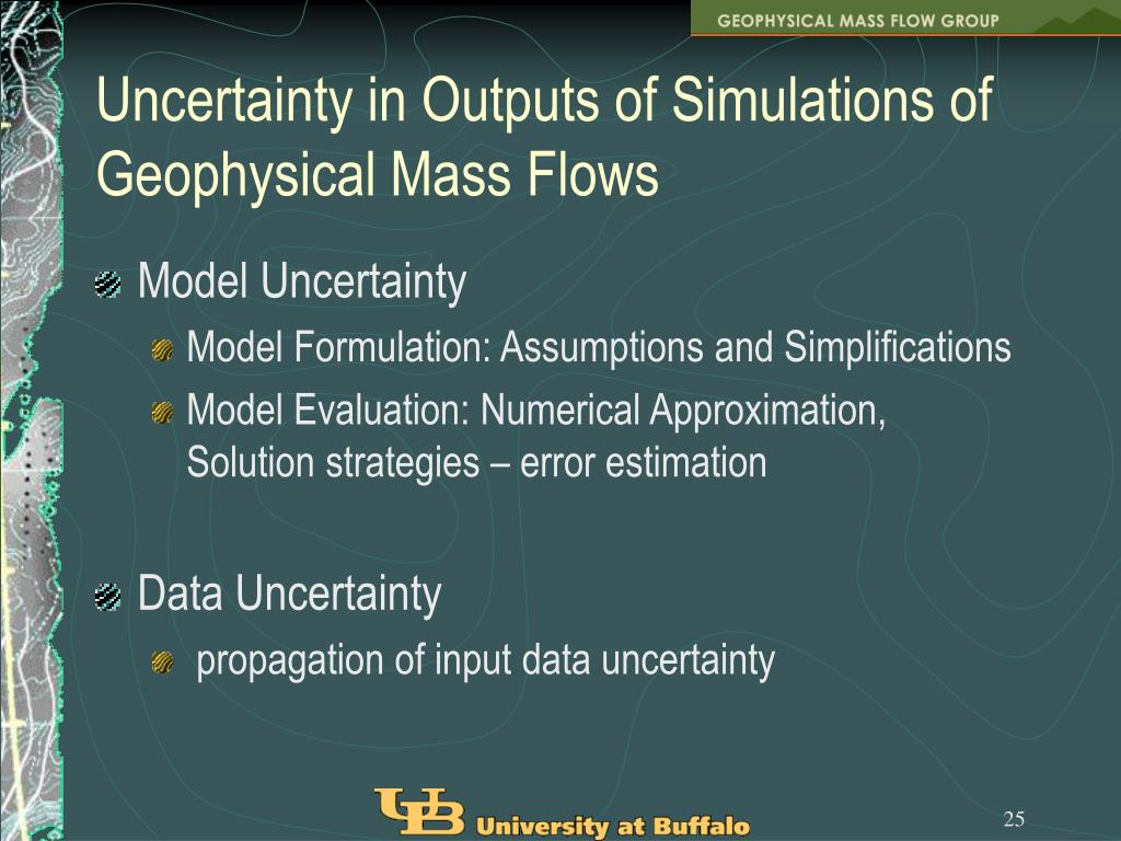Uncertainty in Outputs of Simulations of Geophysical Mass Flows
