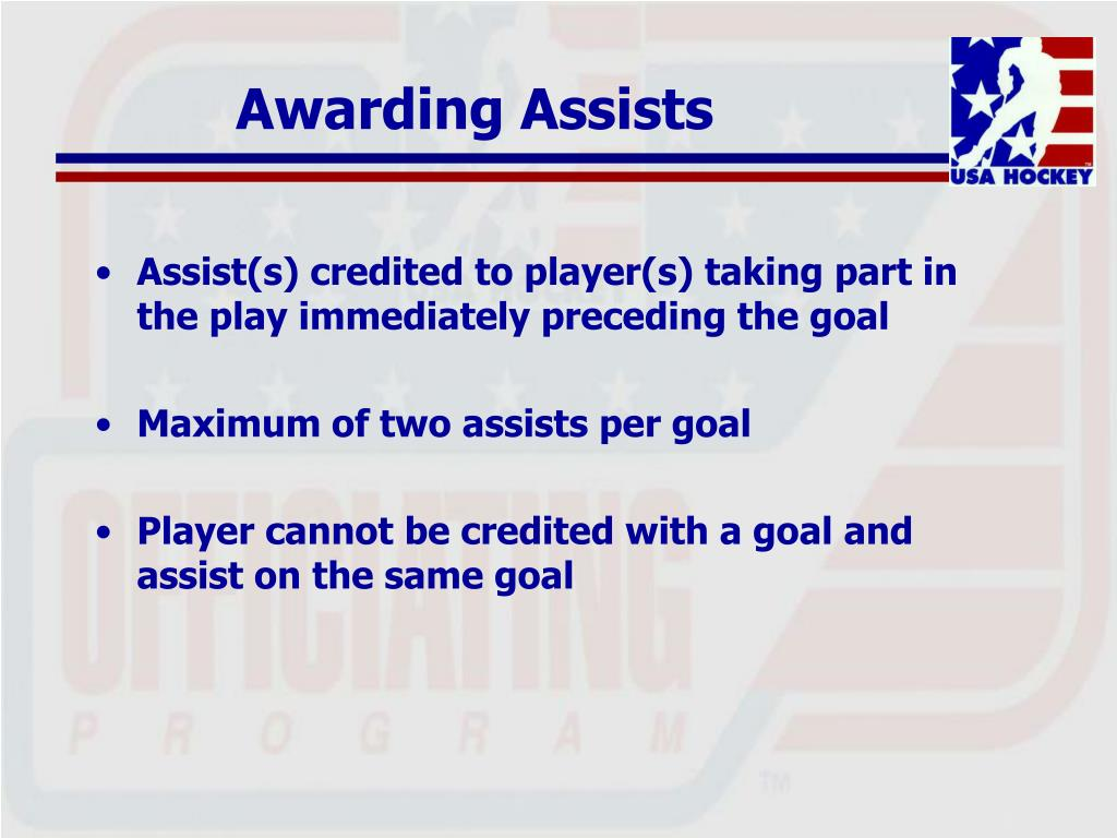 Awarding Assists