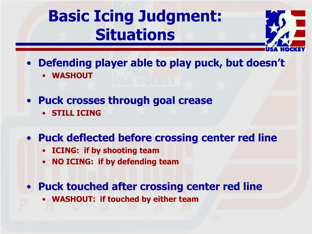 Basic Icing Judgment: Situations
