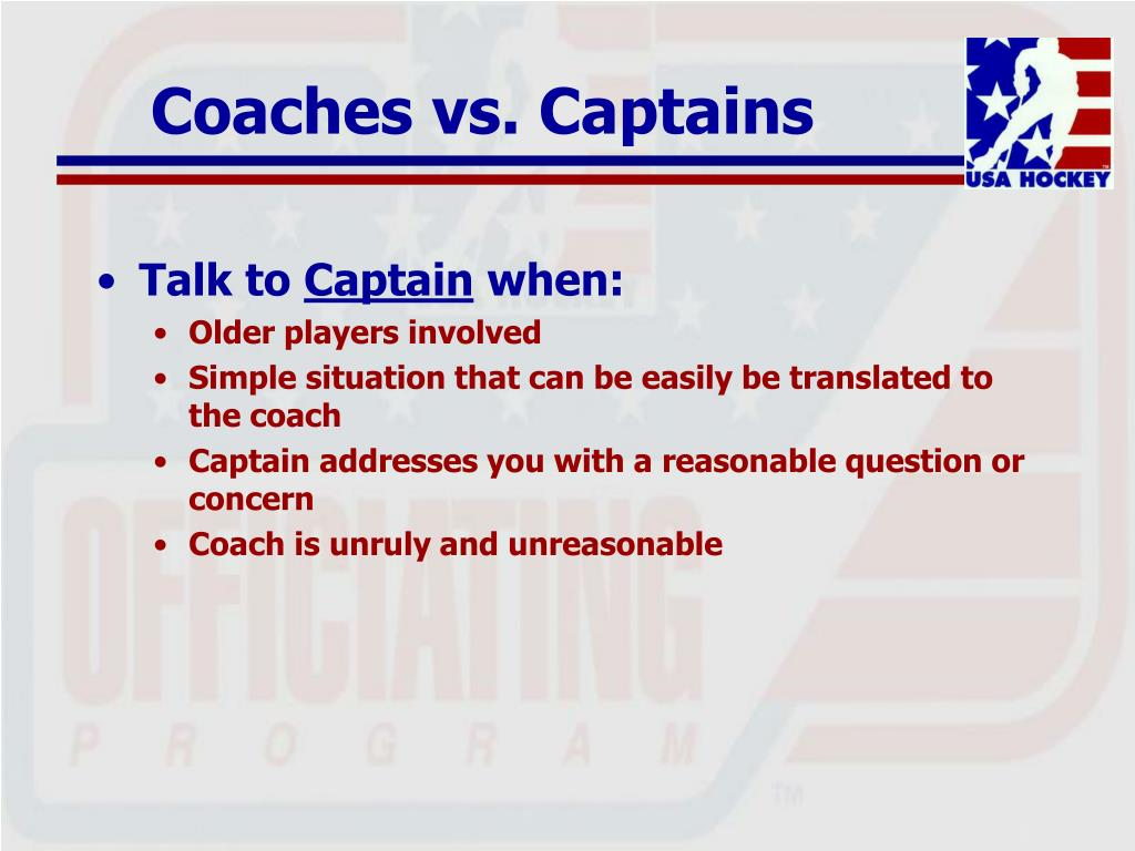 Coaches vs. Captains