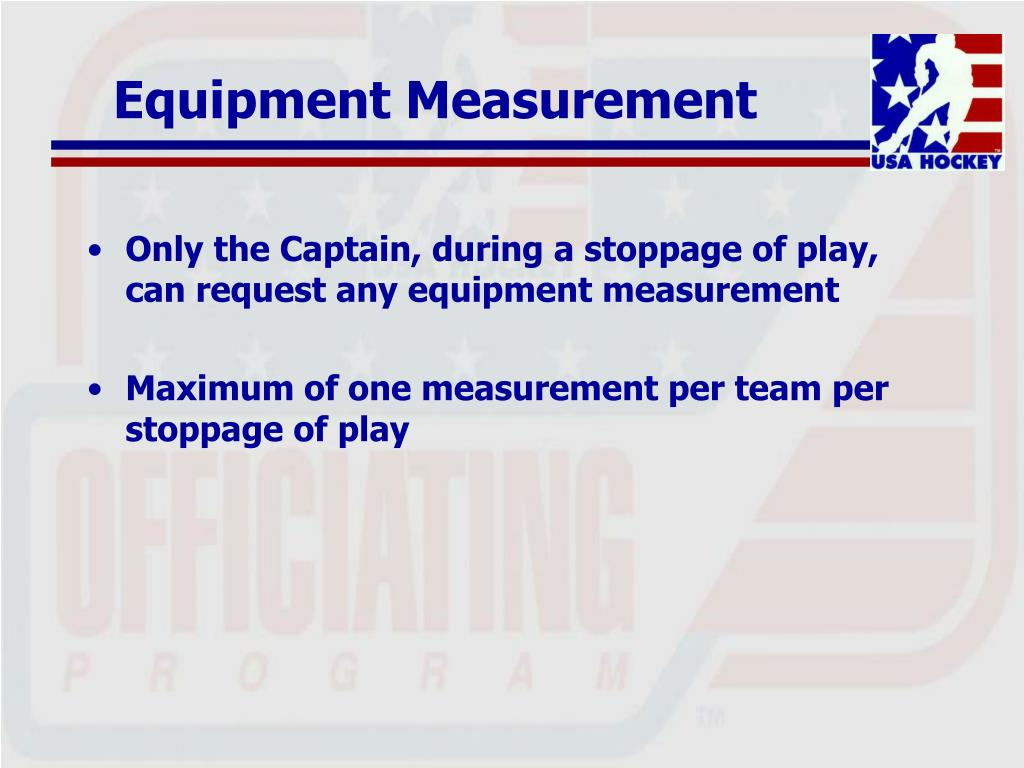 Equipment Measurement