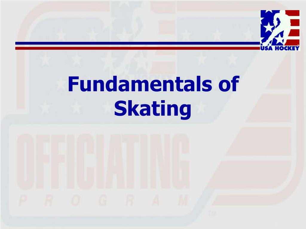 Fundamentals of Skating