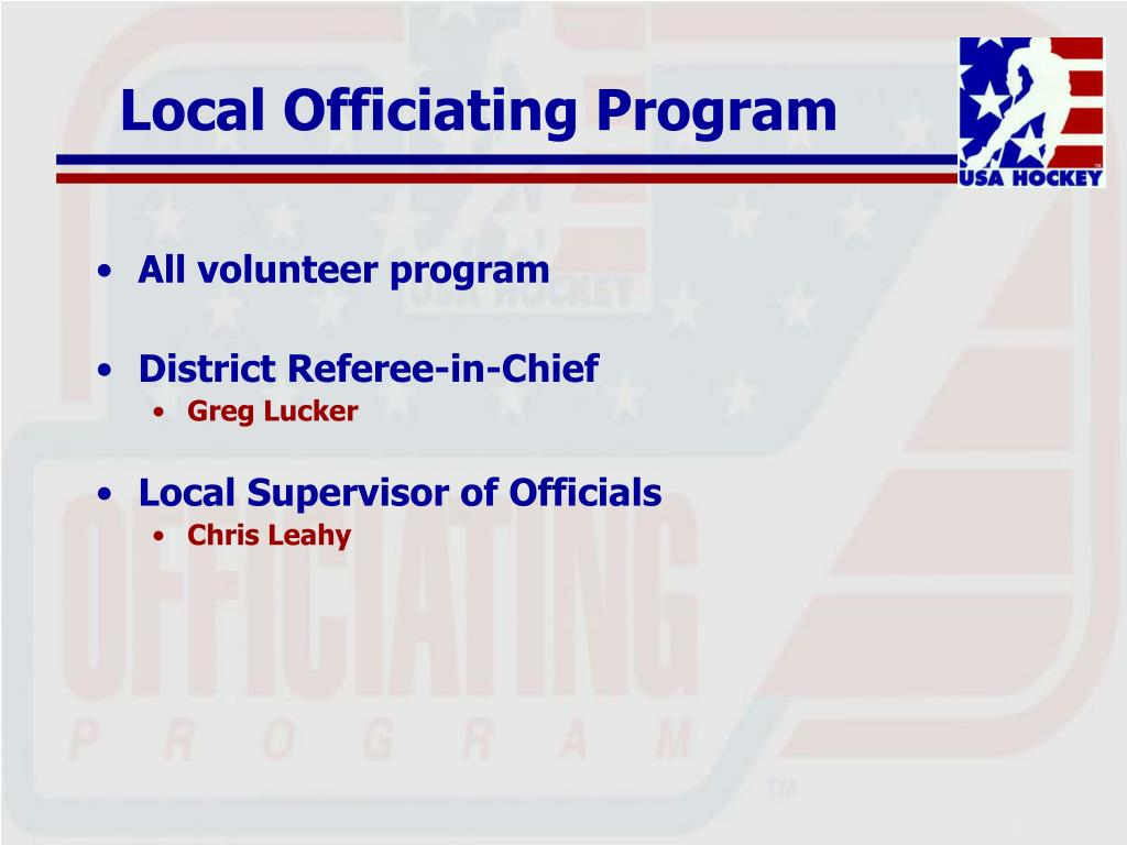 Local Officiating Program