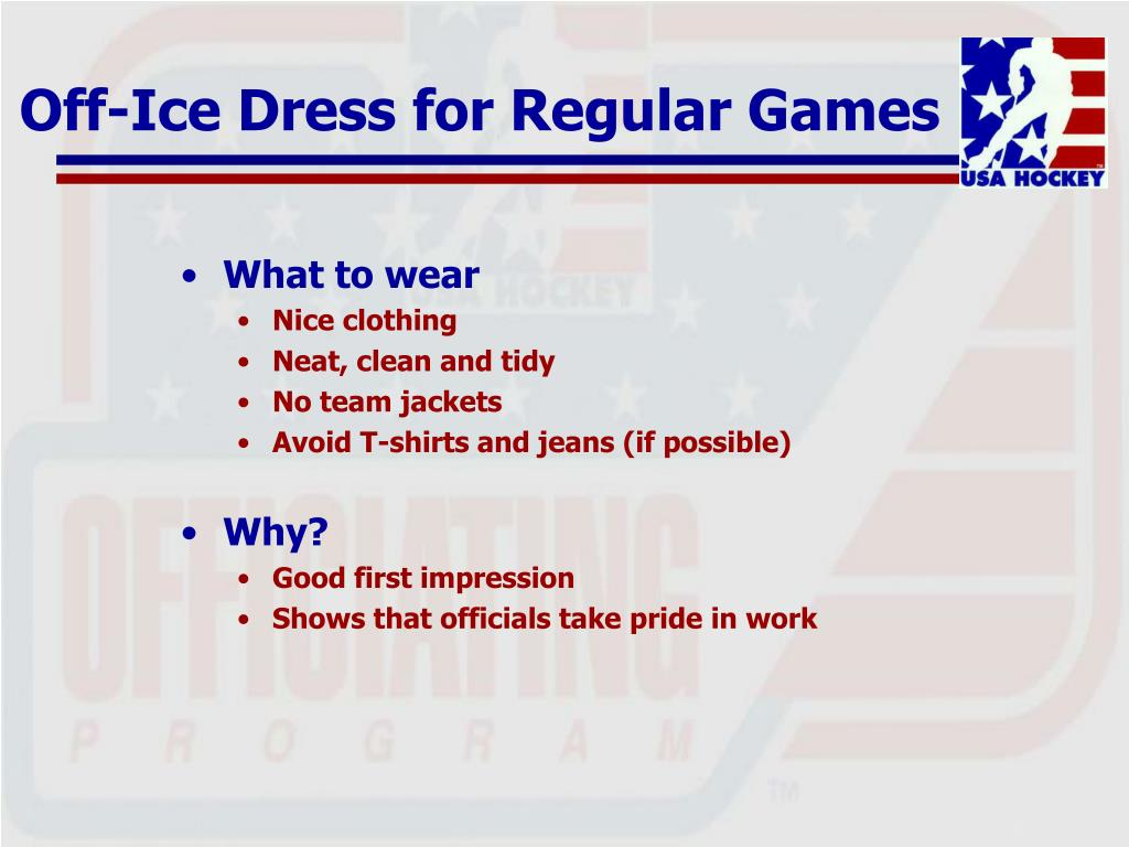 Off-Ice Dress for Regular Games