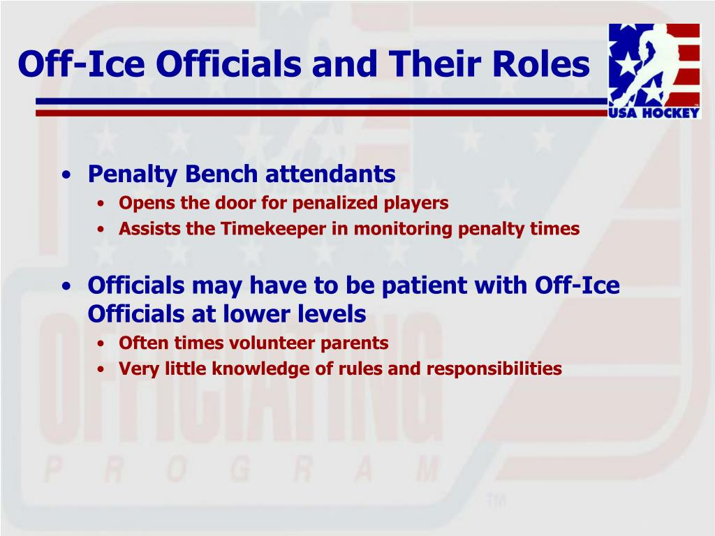 Off-Ice Officials and Their Roles