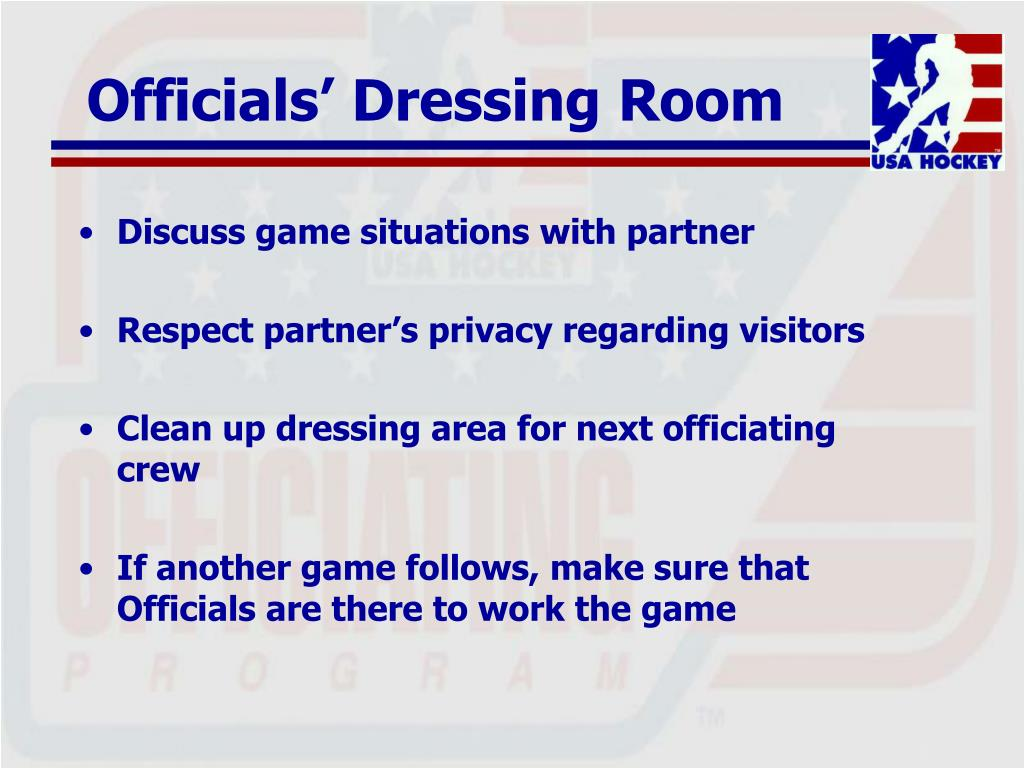 Officials' Dressing Room