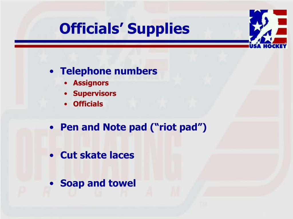 Officials' Supplies