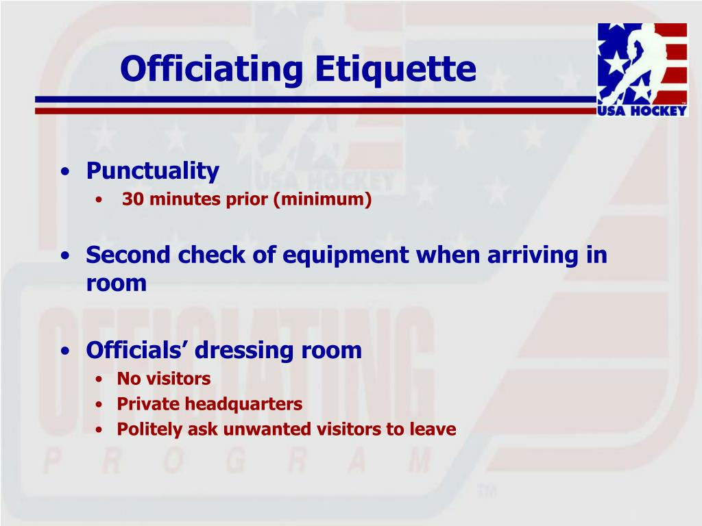Officiating Etiquette