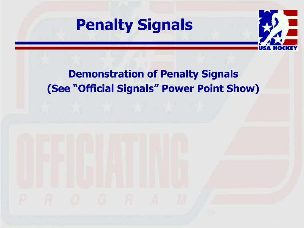 Penalty Signals