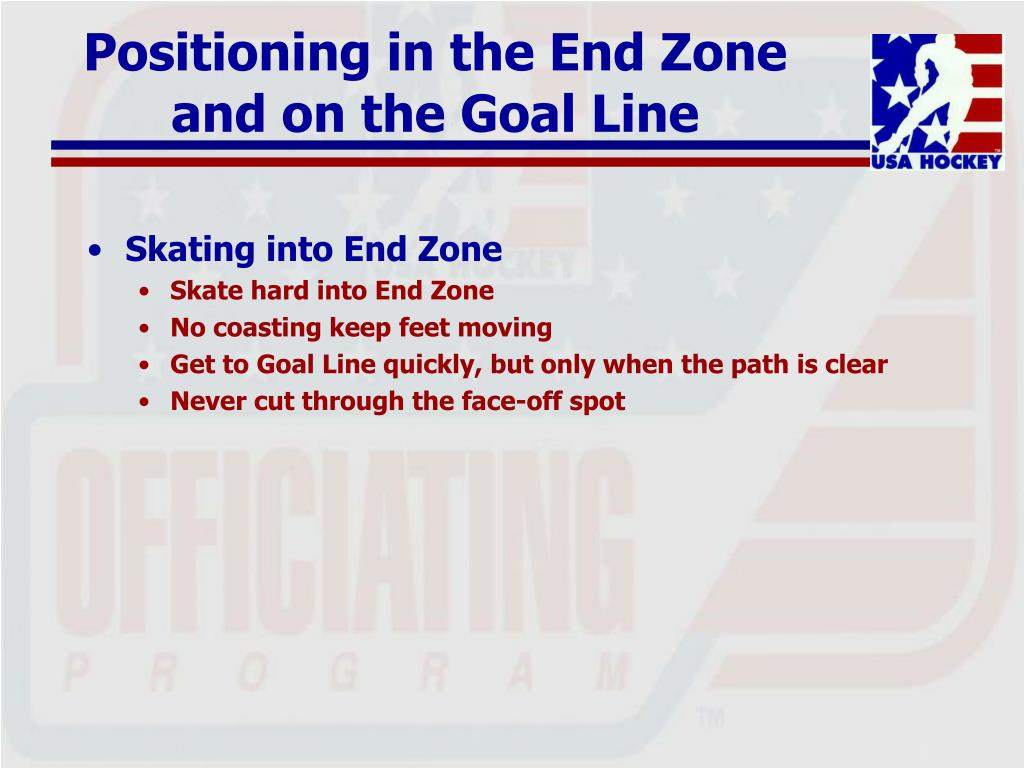 Positioning in the End Zone