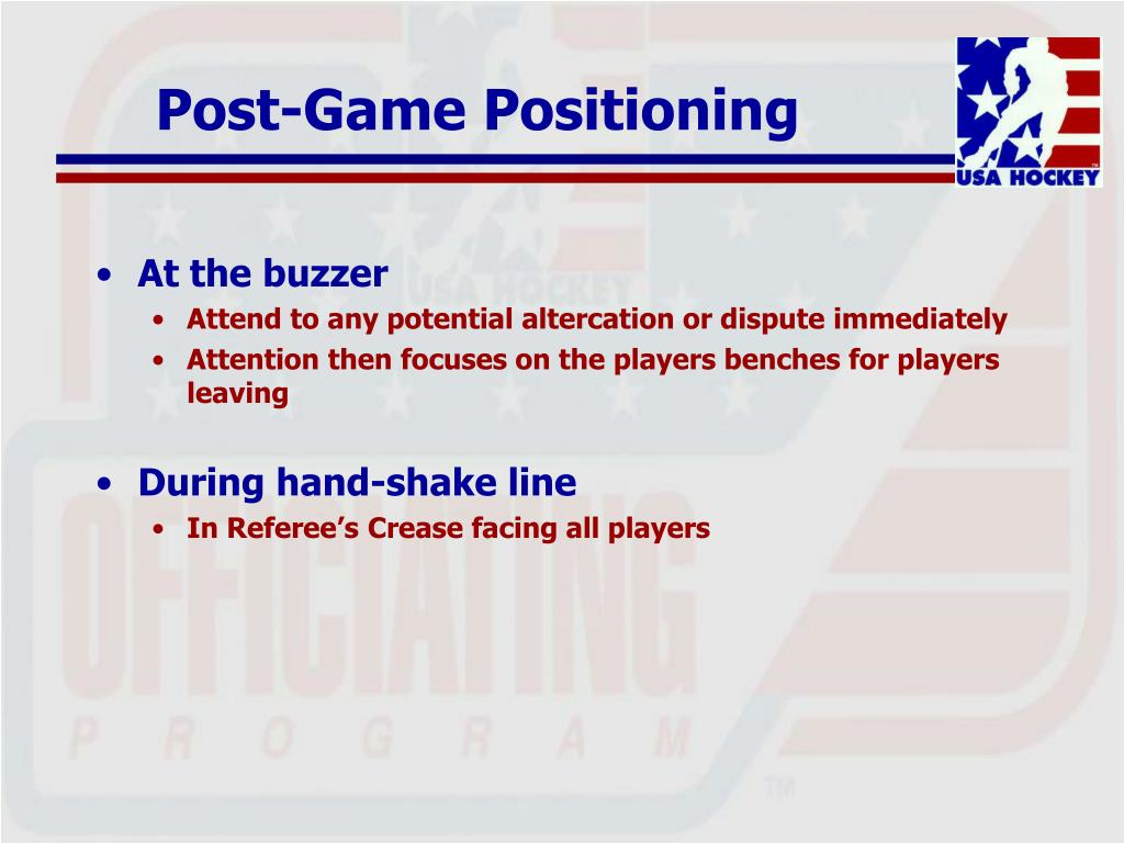 Post-Game Positioning