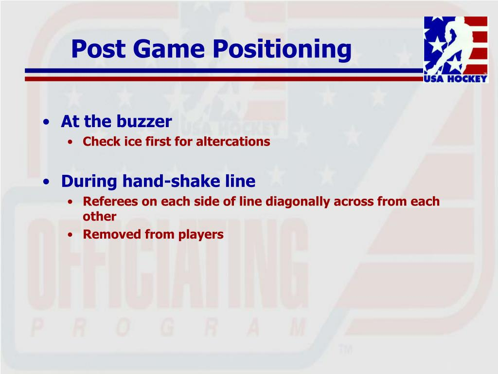 Post Game Positioning
