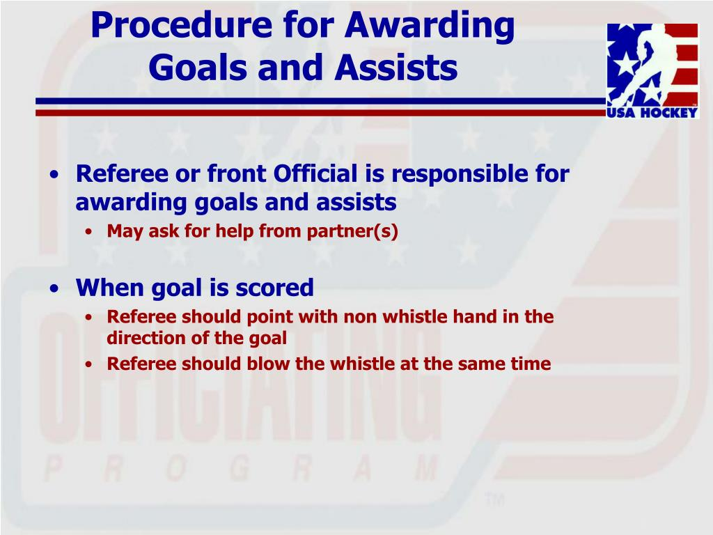 Procedure for Awarding