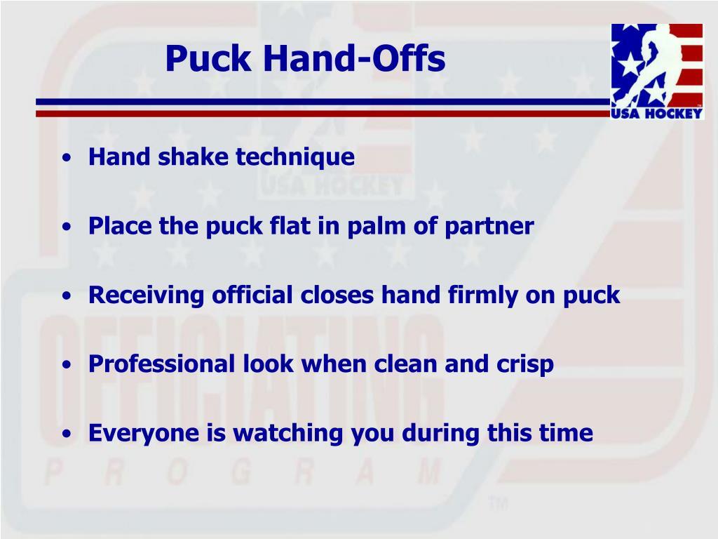 Puck Hand-Offs