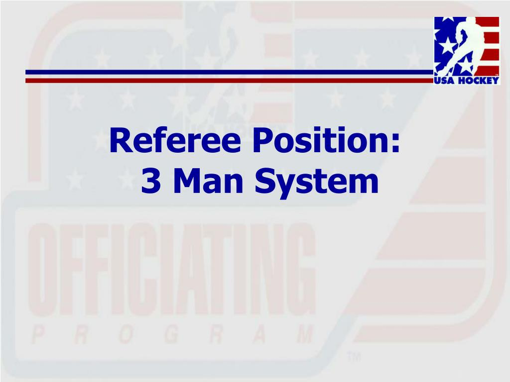 Referee Position: