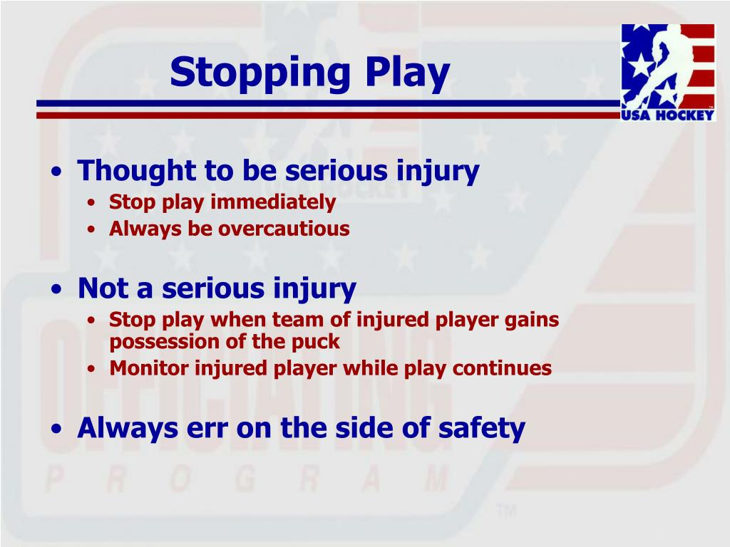 Stopping Play