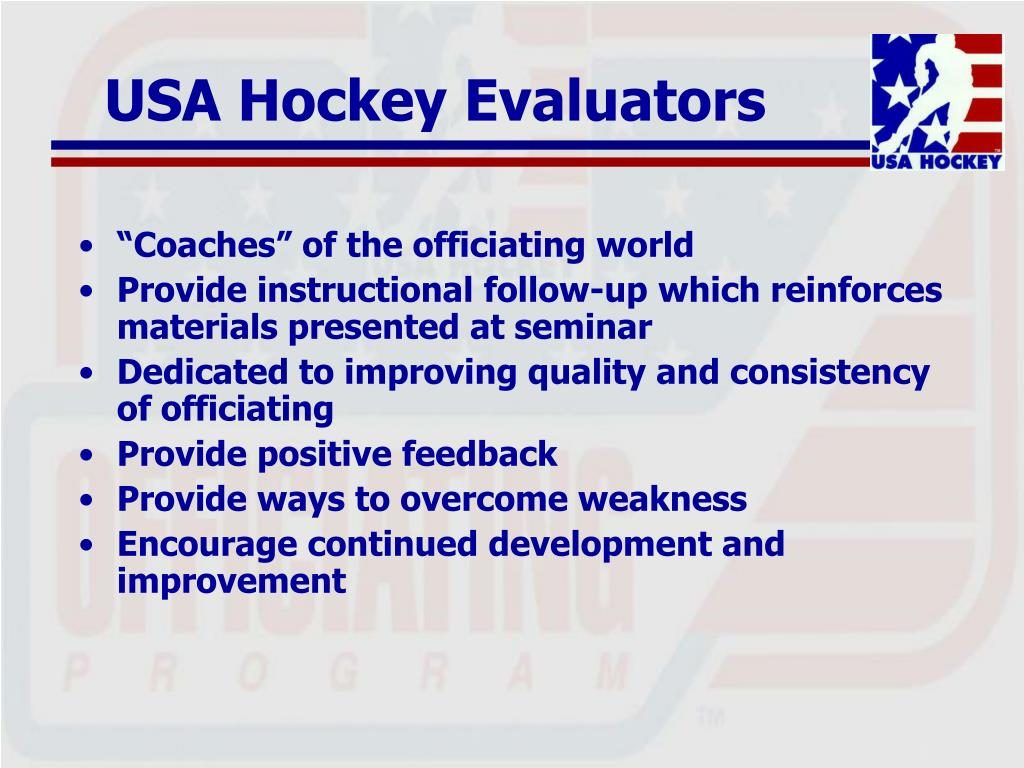USA Hockey Evaluators