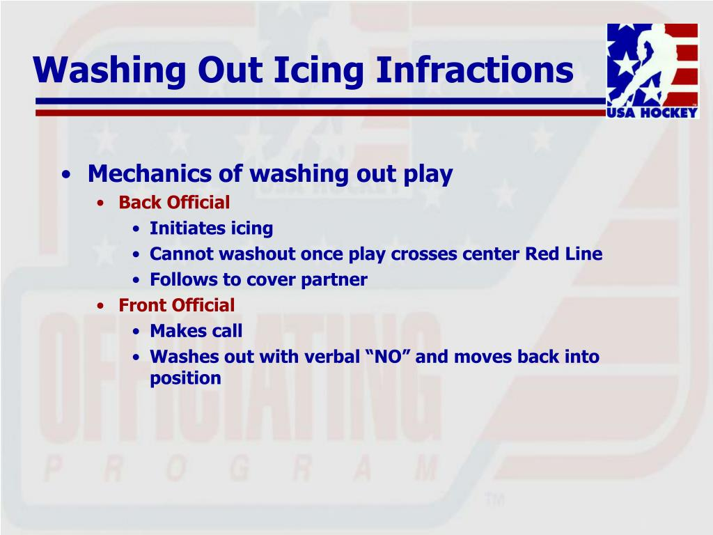 Washing Out Icing Infractions