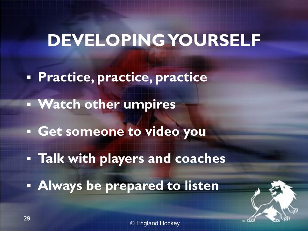 DEVELOPING YOURSELF