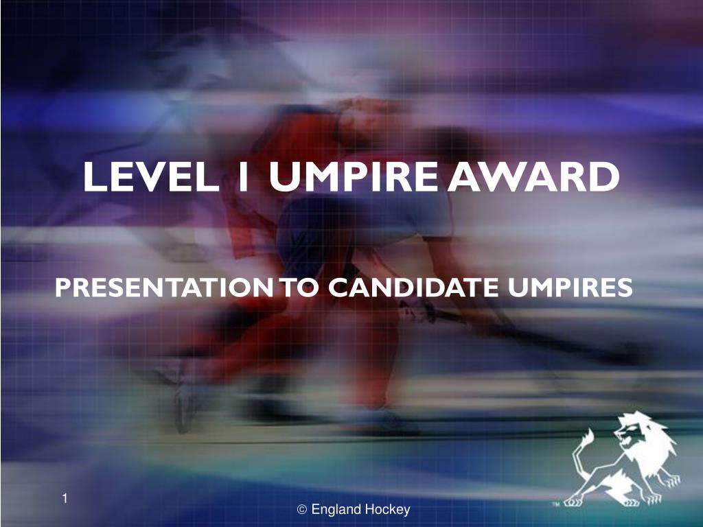 LEVEL 1 UMPIRE AWARD