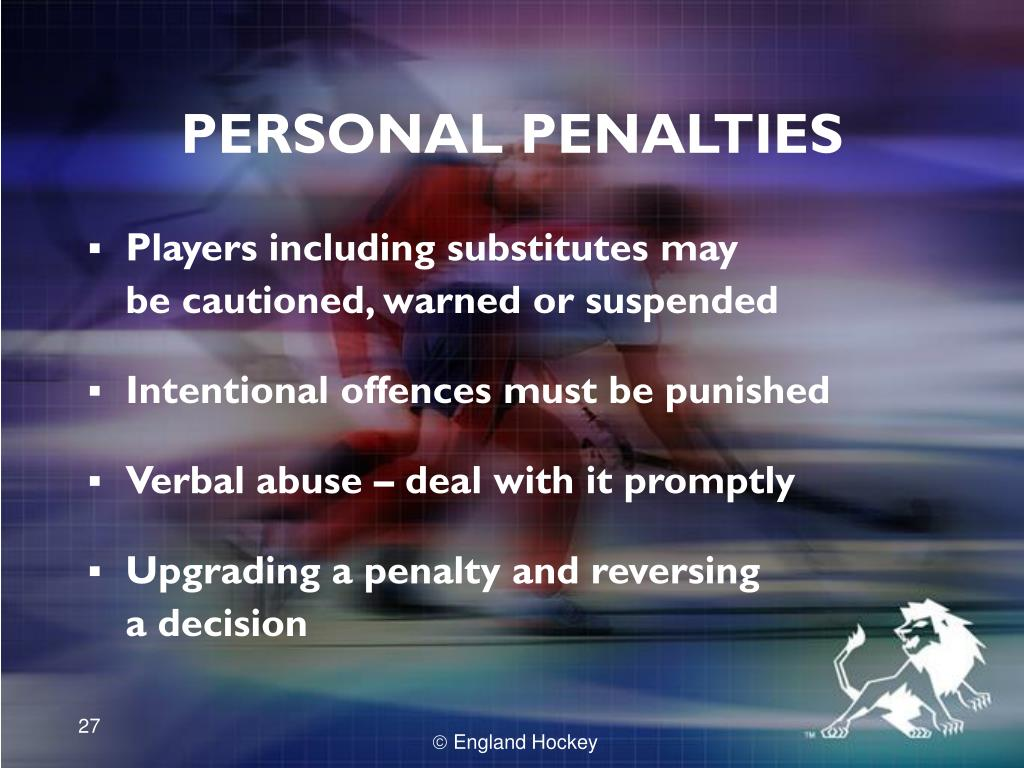 PERSONAL PENALTIES