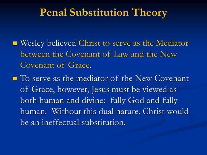 Penal Substitution Theory