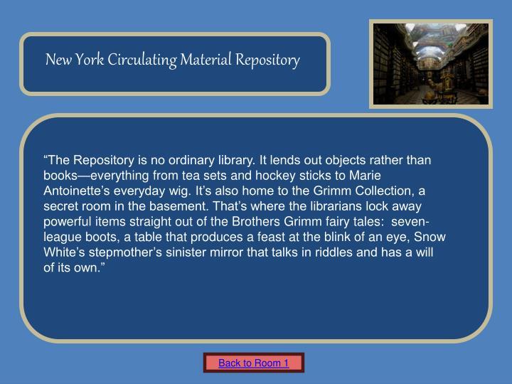 New York Circulating Material Repository