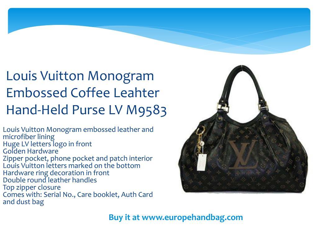 Louis Vuitton Monogram Embossed Coffee