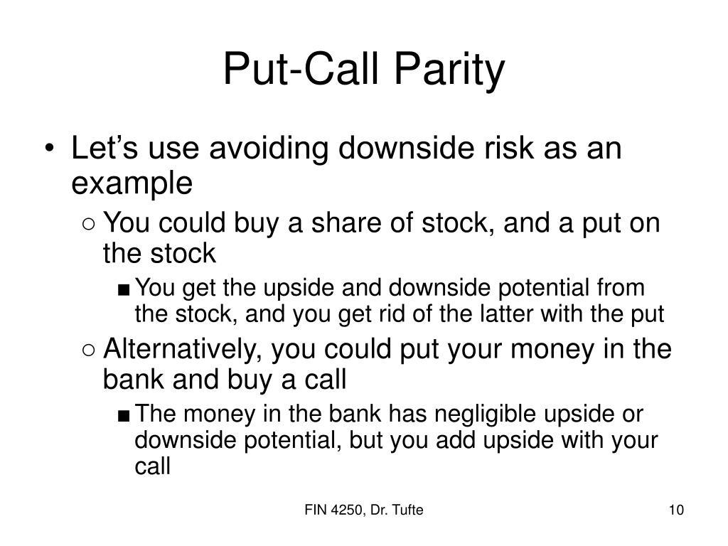 Put-Call Parity