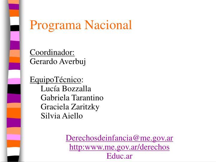 Programa Nacional