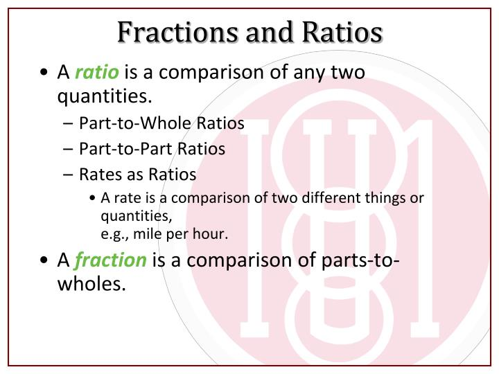 Fractions and Ratios