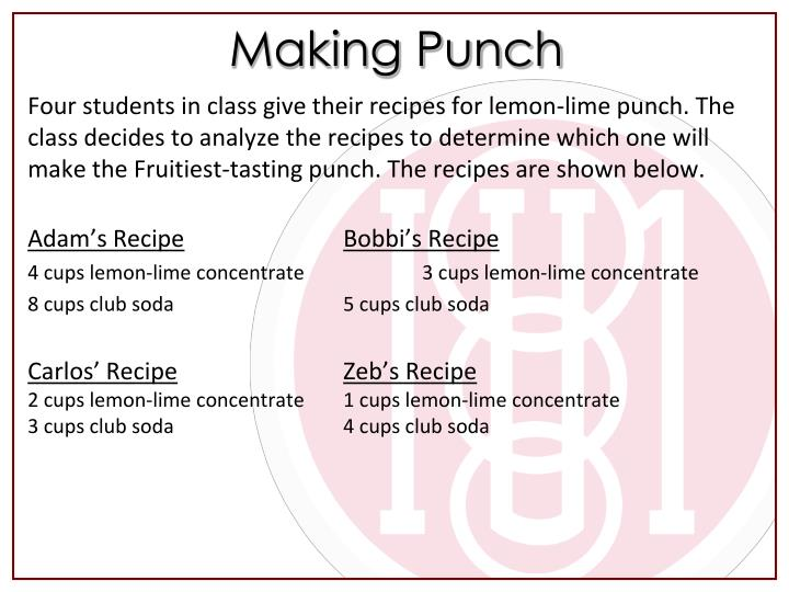 Making Punch