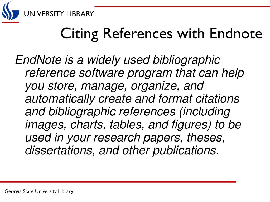 Citing References with Endnote