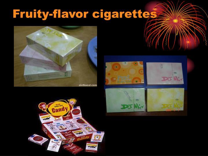 Fruity-flavor cigarettes
