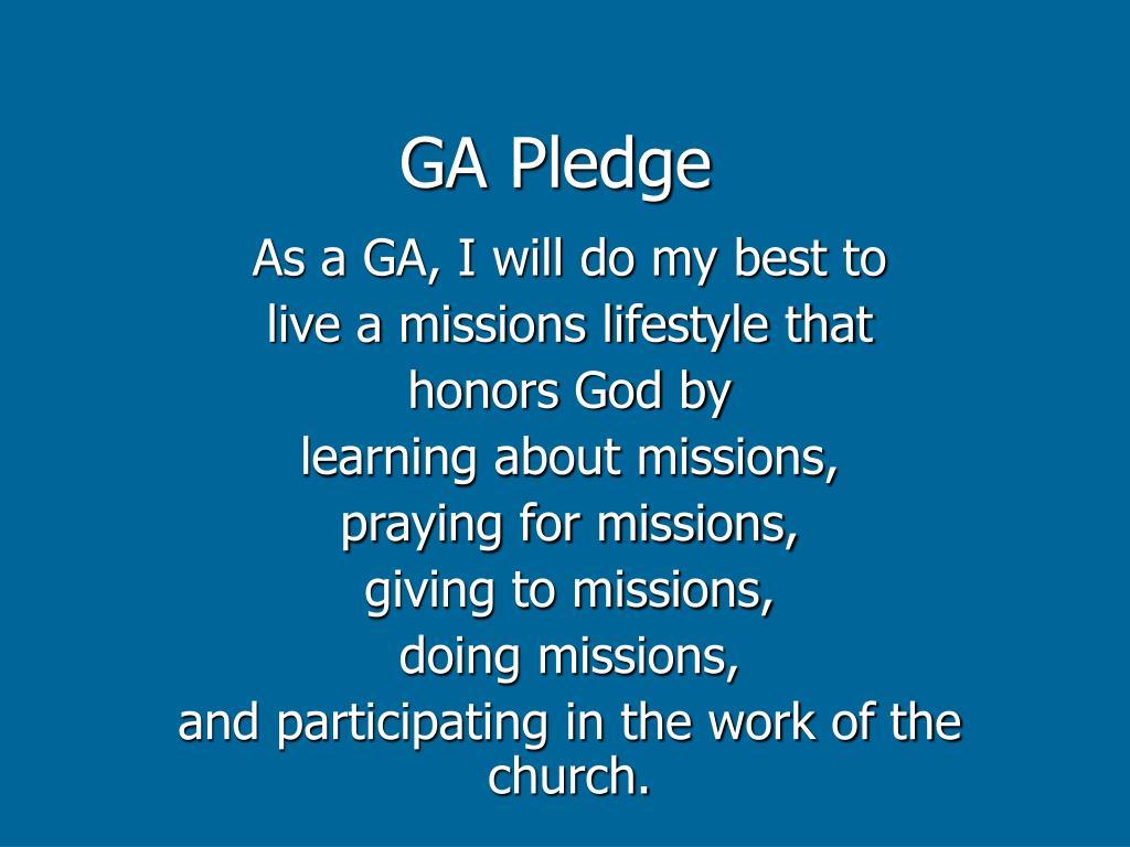GA Pledge
