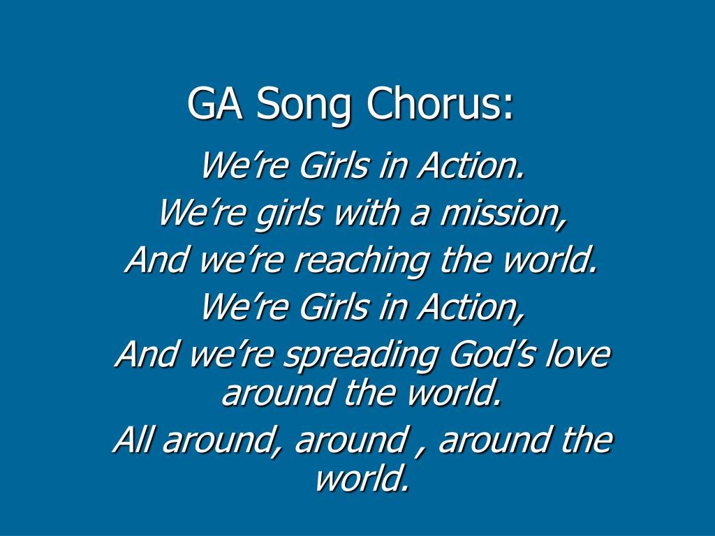 GA Song Chorus: