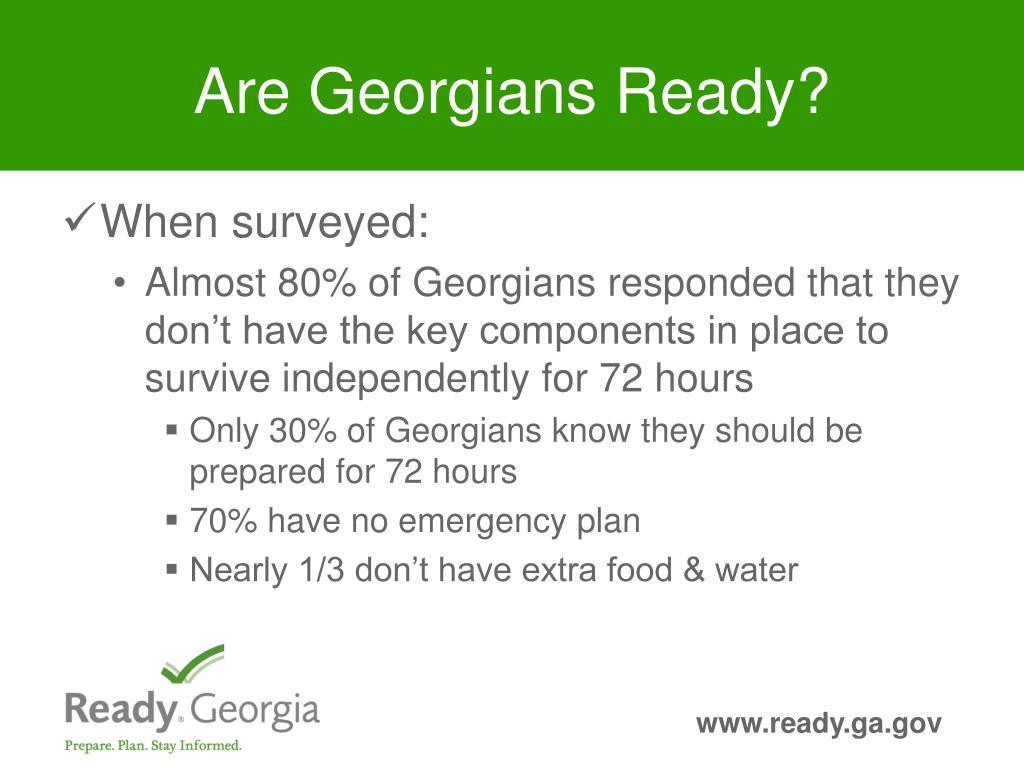 Are Georgians Ready?