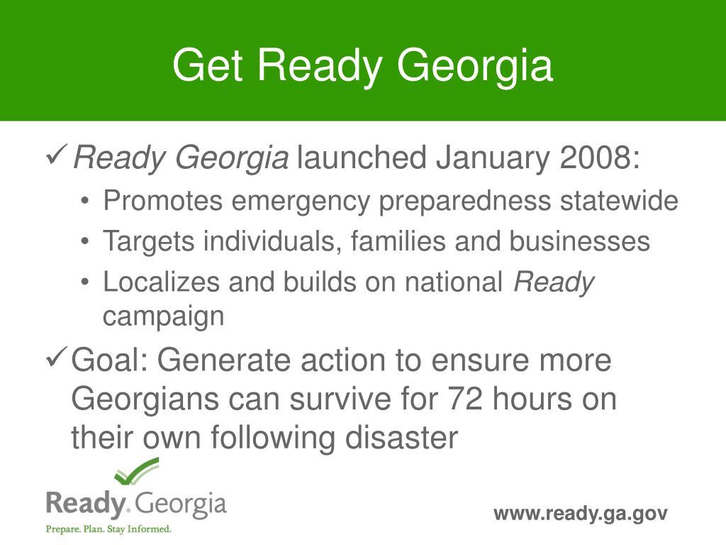 Get Ready Georgia