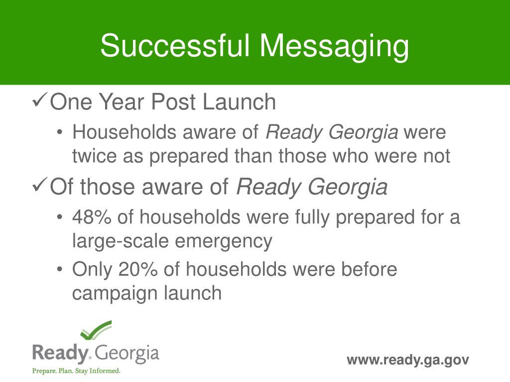 Successful Messaging